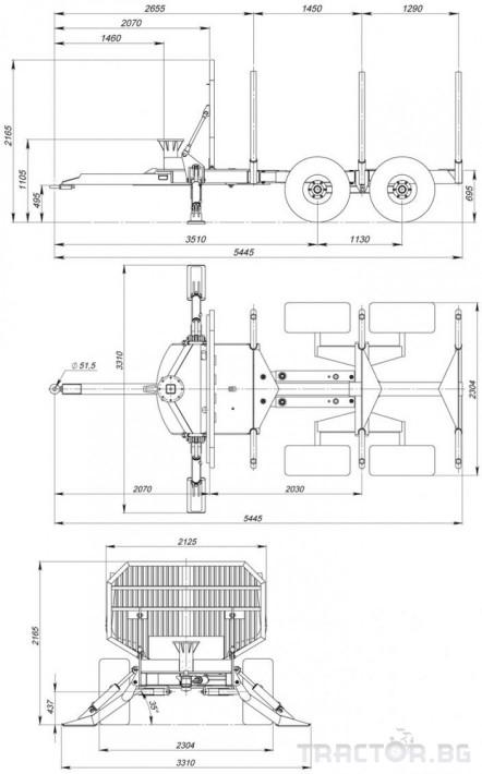 Машини за дърводобив FARMA CT 6,3-9 4 - Трактор БГ