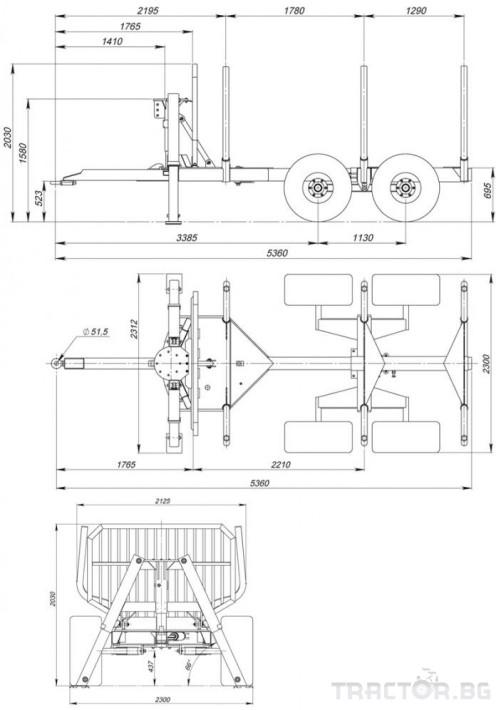 Машини за дърводобив FARMA CT 6,3-9 7 - Трактор БГ