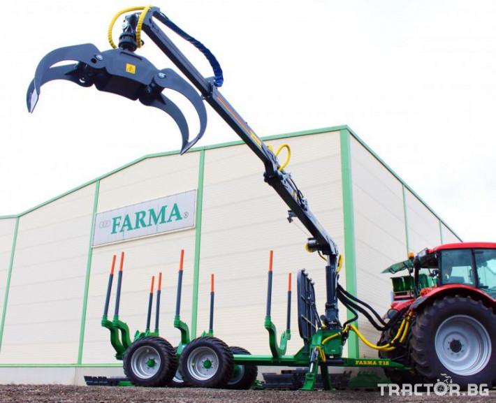 Машини за дърводобив КРАН FARMA C7,0 - 7 метра, за монтаж на трактор 1