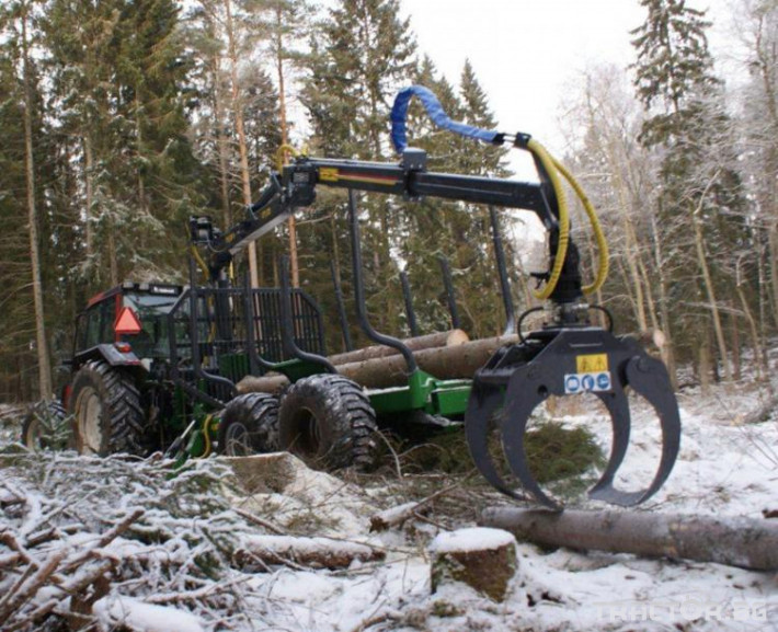 Машини за дърводобив КРАН FARMA C7,0 - 7 метра, за монтаж на трактор 4