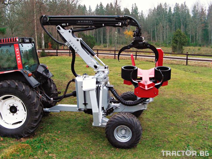 Машини за дърводобив HYPRO 755 НB с колесар и кран 7,5 м 0