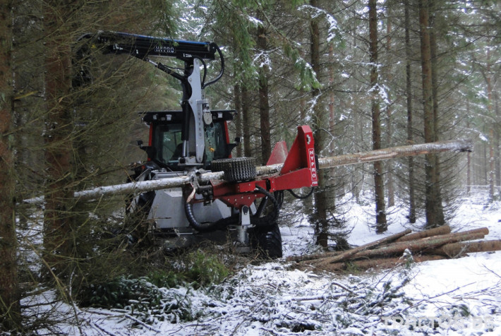 Машини за дърводобив HYPRO 755 НB с колесар и кран 7,5 м 1 - Трактор БГ