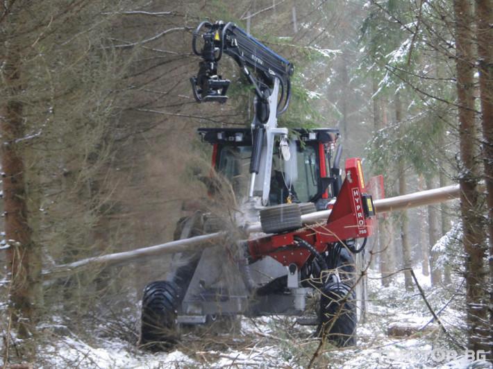 Машини за дърводобив HYPRO 755 НB с колесар и кран 7,5 м 2