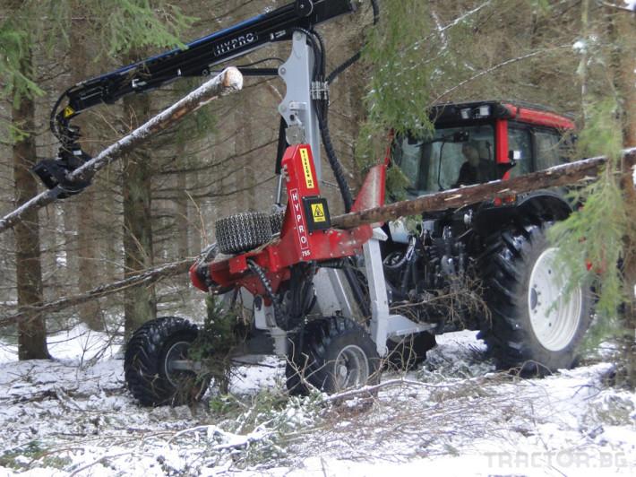 Машини за дърводобив HYPRO 755 НB с колесар и кран 7,5 м 4