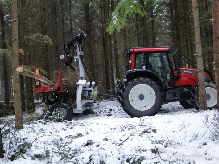 Машини за дърводобив HYPRO 755 НB с колесар и кран 7,5 м 6 - Трактор БГ