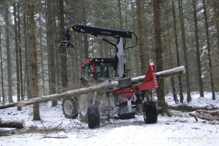 Машини за дърводобив HYPRO 755 НB с колесар и кран 7,5 м 7