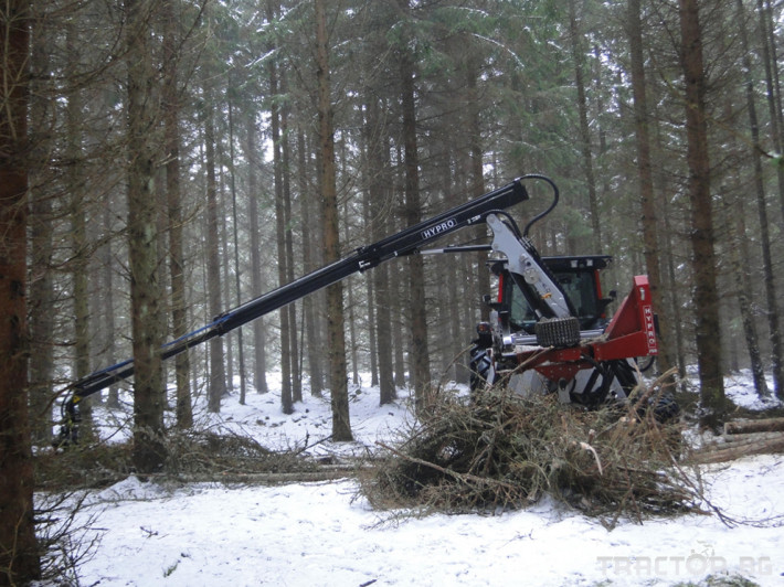 Машини за дърводобив HYPRO 755 НB с колесар и кран 7,5 м 9
