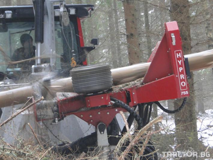 Машини за дърводобив HYPRO 755 НB с колесар и кран 7,5 м 10