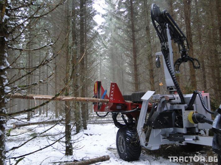 Машини за дърводобив HYPRO 755 НB с колесар и кран 7,5 м 11