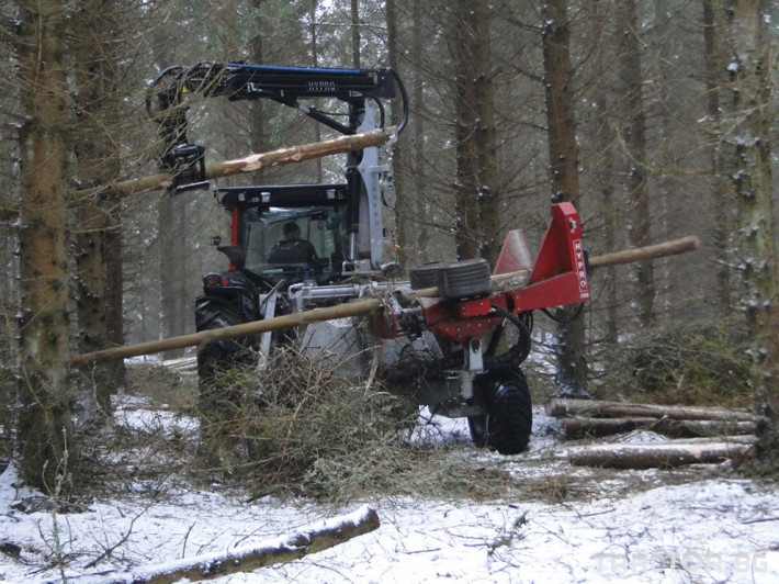 Машини за дърводобив HYPRO 755 НB с колесар и кран 7,5 м 13 - Трактор БГ
