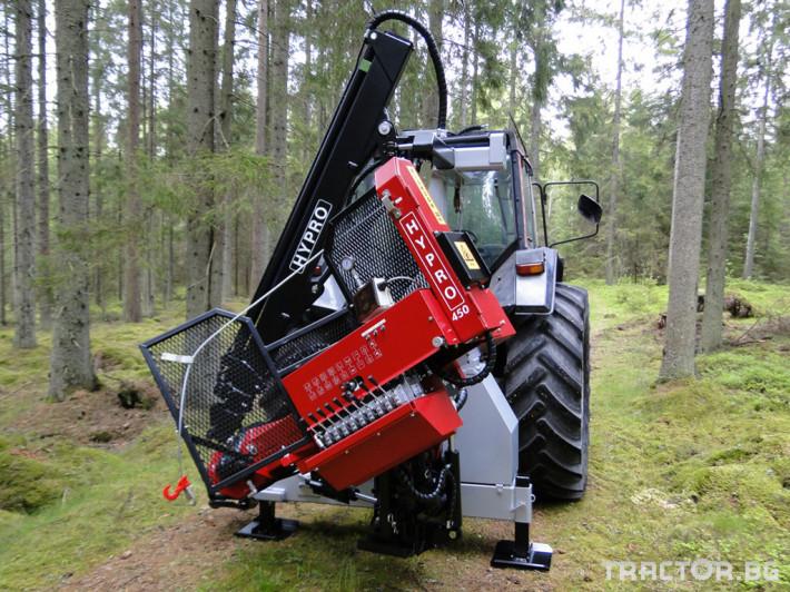Машини за дърводобив HYPRO 450 XL - процесор за кастрене и разкрой 1 - Трактор БГ